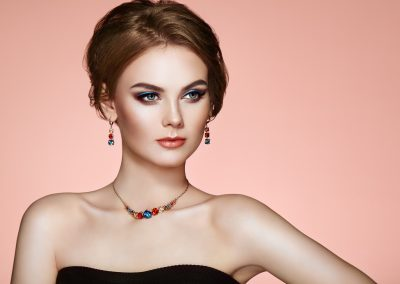 Portrait Beautiful Woman with Jewelry with earring (206)