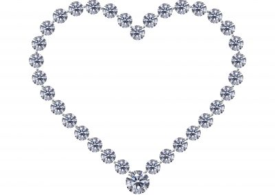 Diamond jewel heart Valentine's Day necklace (206)