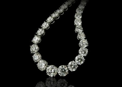 Round diamonds collier necklace (206)