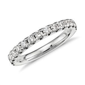 扇貝形密釘鑽石戒指