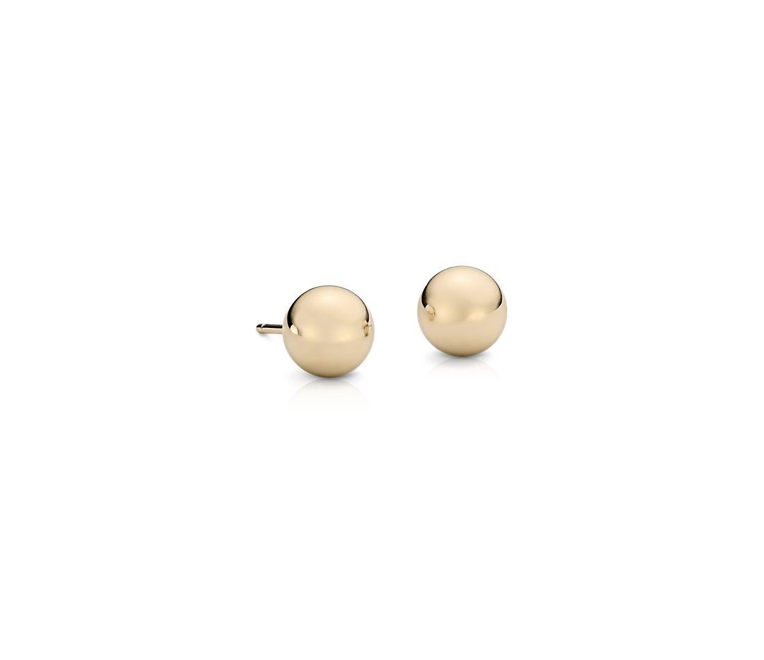 球形圓珠釘款耳環