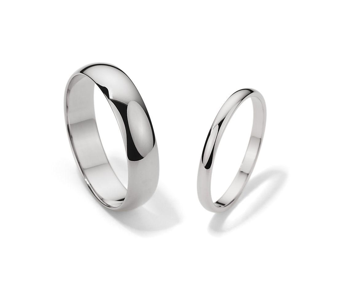 鉑金經典結婚戒指對戒