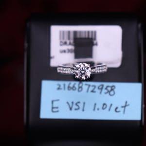 GIA證書產品 E色 , VS1淨度 , 1.01卡