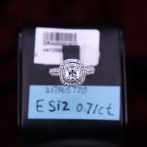 GIA證書產品 E色 , SI2淨度 , 0.71卡 2EX None
