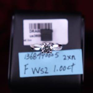 GIA證書產品 F色 , VVS2淨度 , 1.00卡 2EX None