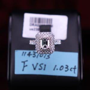 GIA證書產品 F色,VS1淨度,1.03ct