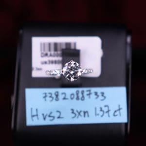 GIA證書產品 H色 , VS2淨度 , 1.37卡 3EX None
