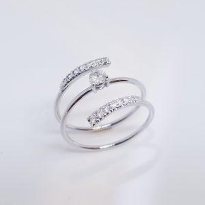 18K記憶金屬鑽石戒指