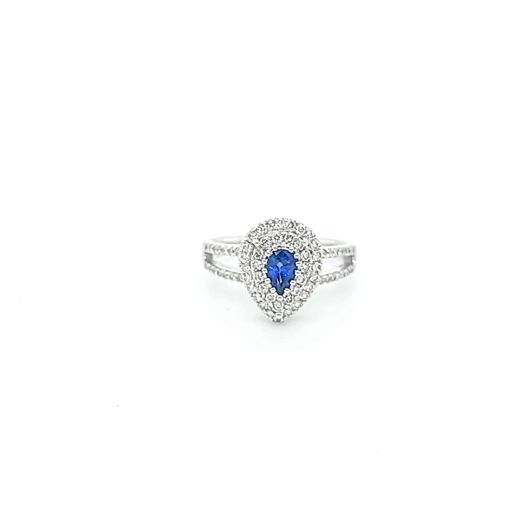梨形藍寶石戒指