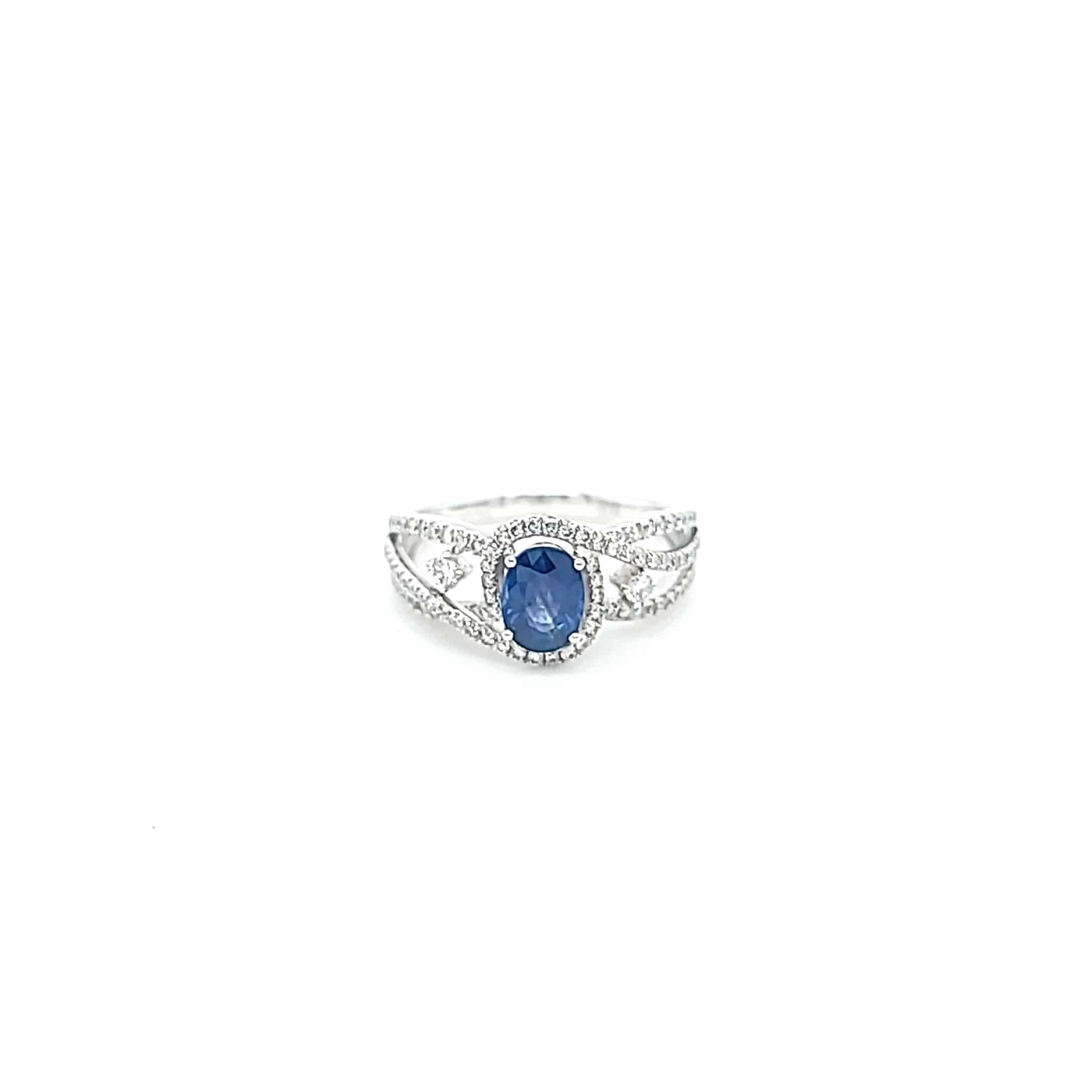 橢圓形鑽石寶石戒指