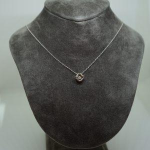 方形鑽石項鏈