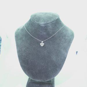 心形鑽石項鏈