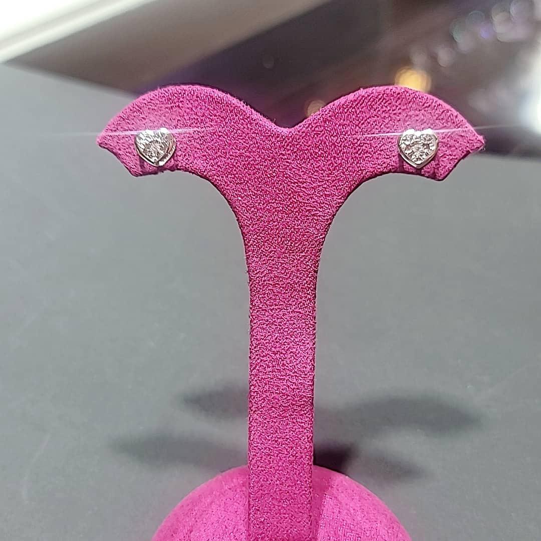 心形鑽石耳環