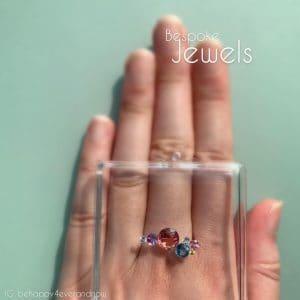 太陽系圓形寶石設計珠寶訂製天然寶石戒指