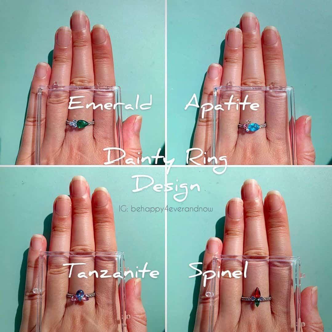 玲瓏.入微寶石戒指
