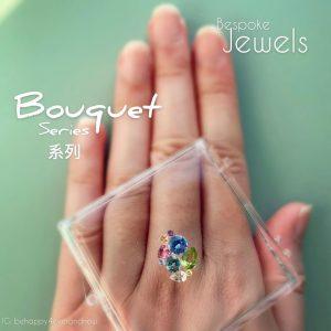 彩寶寶石耳環/戒指
