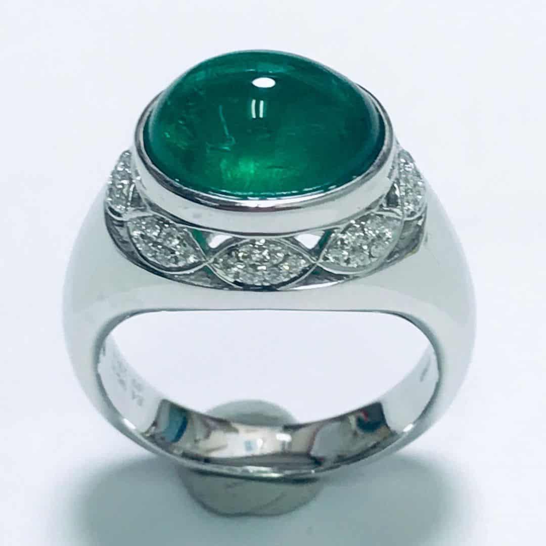 贊比亞綠寶石戒指