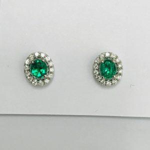 哥倫比亞綠寶石耳環